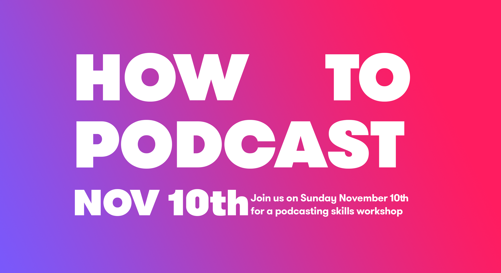 podcasting november 10th
